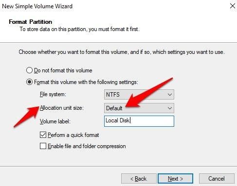 Protección de archivos con contraseña Windows 10 Asignación predeterminada