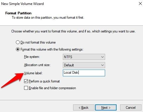 Protección de archivos con contraseña Windows 10 Etiqueta de volumen