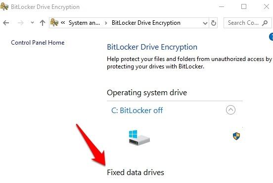 Protección de archivos con contraseña Windows 10 unidades de cifrado de datos fijos de la unidad Bitlocker