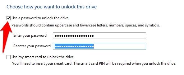 Protección de archivos con contraseña Windows 10 Unidades de datos fijas de cifrado de unidad Bitlocker Habilitar contraseña de Bitlocker