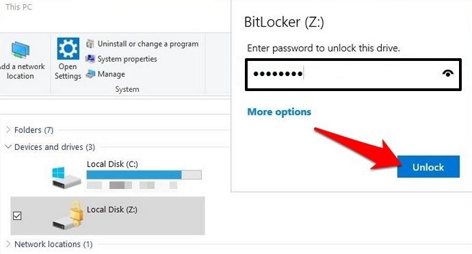 Protección de archivos con contraseña Windows Desbloqueo de inicio de sesión de montaje de Vhd de bóveda de 10 carpetas