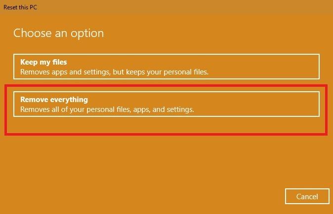 Restablecer Windows 10 a la configuración de fábrica Elimina todo de la PC