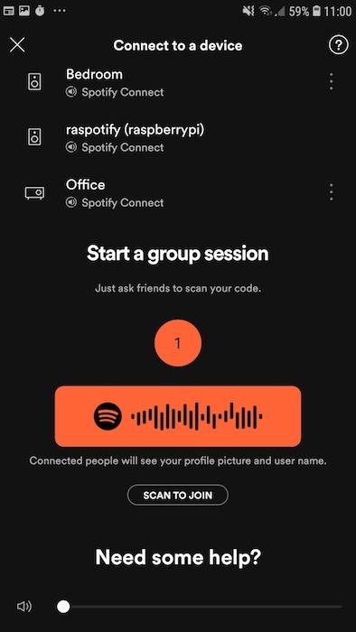 Ahora puede usar su dispositivo Raspberry Pi como cliente de Spotify Connect.