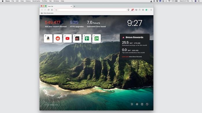 Cuatro alternativas de Safari Mac Brave