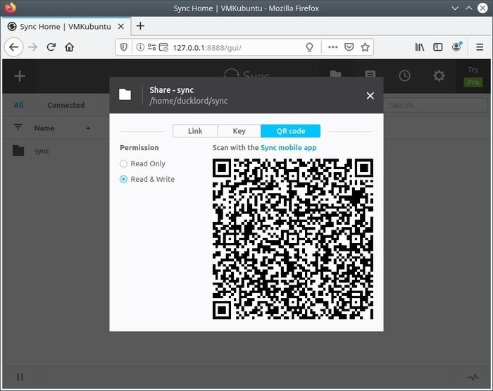 Comparta en cualquier lugar con Share Qr sync