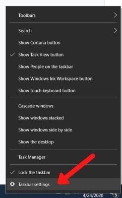 Eliminar la configuración de la barra de tareas para el desorden del escritorio