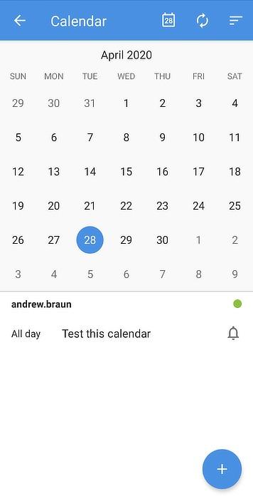 Calendario de Google alternativo de Zoho Mobile