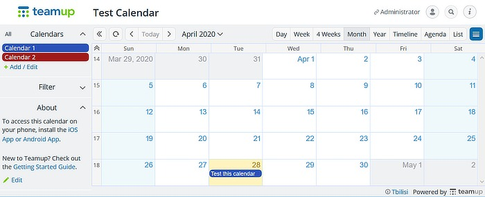 Equipo alternativo de Google Calendar