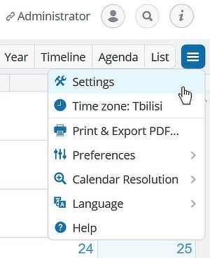 Configuración alternativa del dispositivo Google Calendar 1