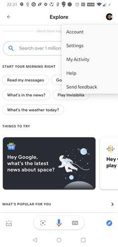 Asistente de exploración de Google