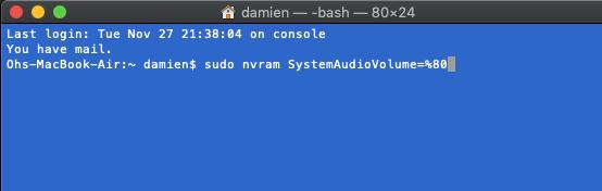 comando mac-disable-startup-sound-terminal