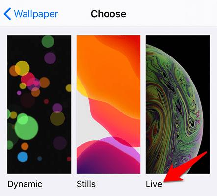 Establecer fondos de pantalla en vivo Iphone Live Wallpaper