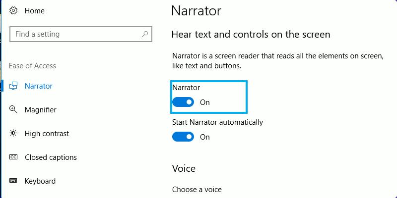 Cómo usar Windows Narrador para convertir su texto en voz