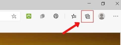 Icono de colecciones de Microsoft Edge