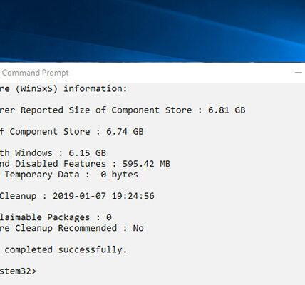 Cómo ver y limpiar el almacén de componentes en Windows diez